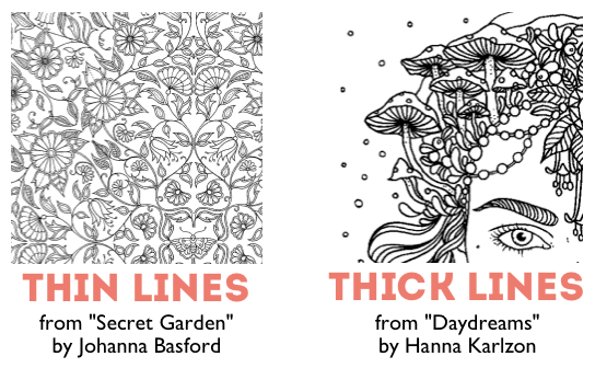 looking for a coloring book for a senior opt for thicker lines over thinner lines - A Coloring Book