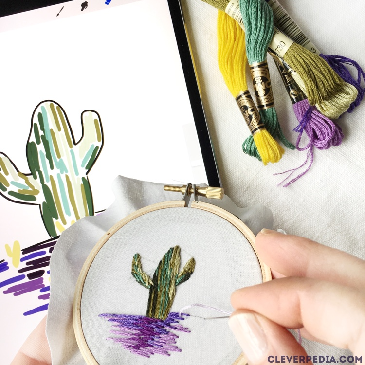 Embroidery Tutorial For Beginners Free Cactus Pattern Cleverpedia