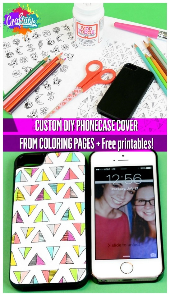 crafty coloring pages phone case