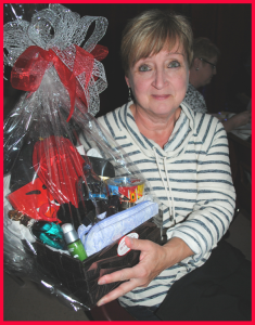 Congratulations Linda Beach!  You give so much throughout the year we were very happy to see you win this beautiful basket!