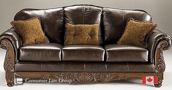 ashley furniture fake leather canadian