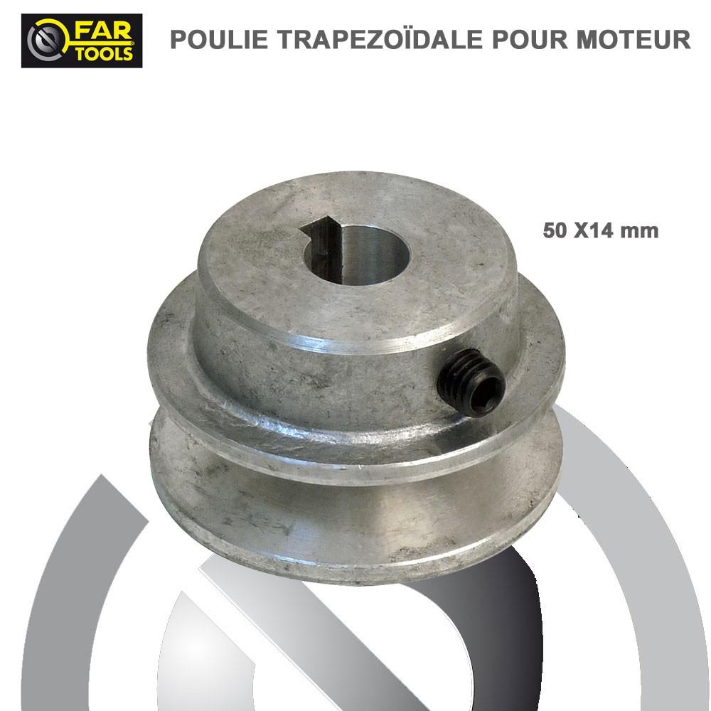 Poulies Aluminium Diamtre 50 X 14 Mm117220 Fartools