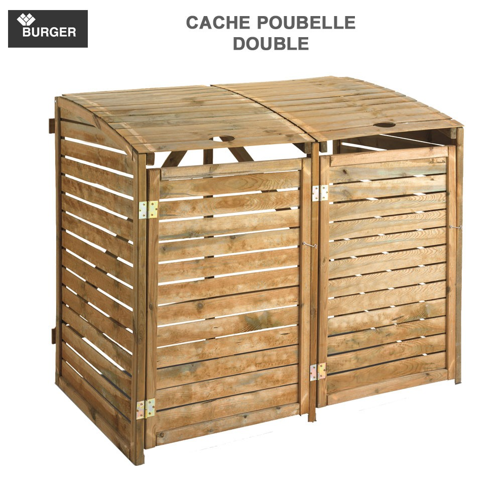 cache poubelle double l150 x p90 x h125 cm