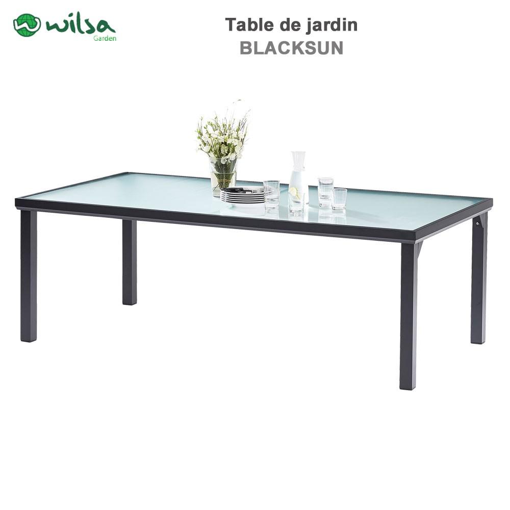 Table de jardin Blacksun 8 places Noire