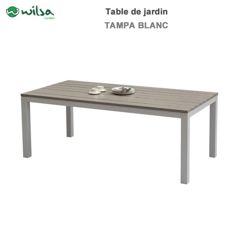 Table De Jardin Tampa Fixe 8 Places Blanc600465 Wilsa Garden