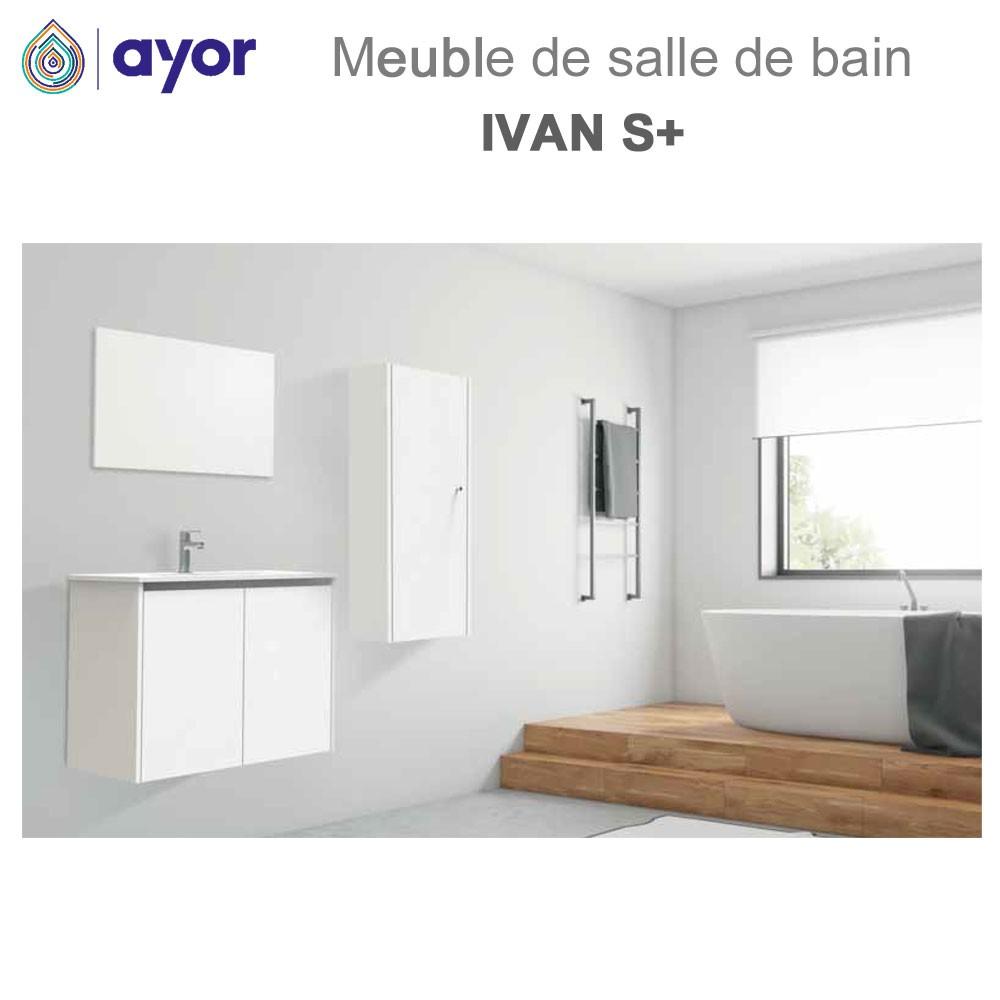 meuble de salle de bains a suspendre ivan s