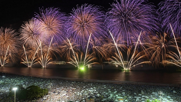 como fotografar fogos de artificio - copacabana