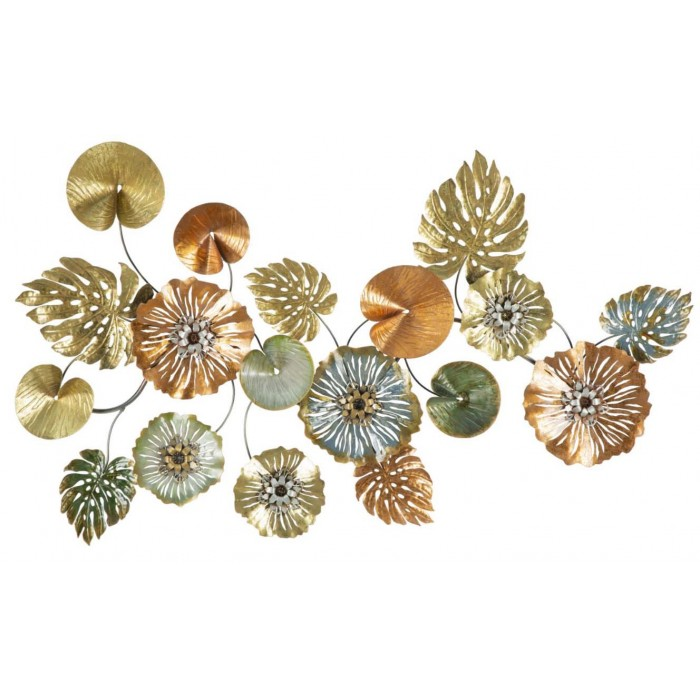 Leaf wall art decor i dettagli intricati fanno risaltare questo pezzo tra le tue altre arti decorative. Scultura Da Parete Metallo Fiori