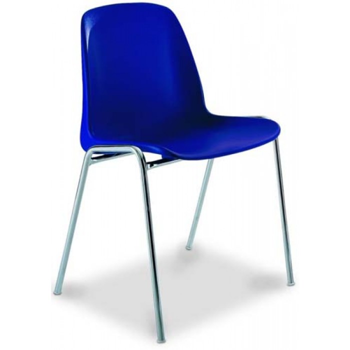 6 sedie impilabili in plastica