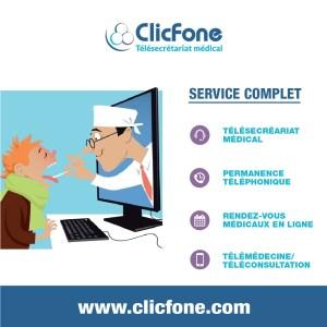 ClicFone télésecrétariat téléconsultation