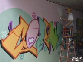 Welcome Coline - Graffiti Mural Chambéry - 2015-11