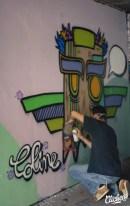 Welcome Coline - Graffiti Mural Chambéry - 2015-12