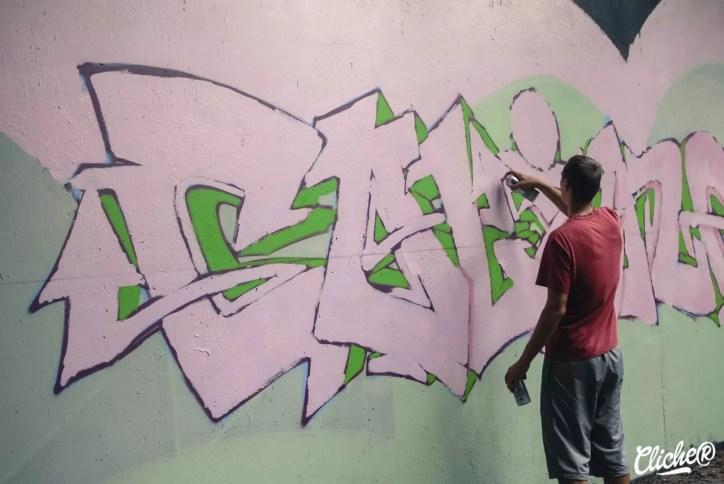 Welcome Coline - Graffiti Mural Chambéry - 2015-14