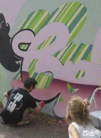 Welcome Coline - Graffiti Mural Chambéry - 2015-16