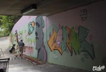 Welcome Coline - Graffiti Mural Chambéry - 2015-21