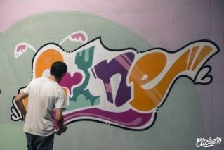 Welcome Coline - Graffiti Mural Chambéry - 2015-22