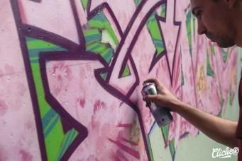 Welcome Coline - Graffiti Mural Chambéry - 2015-26