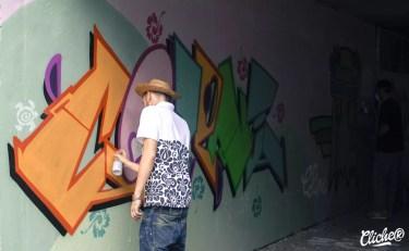 Welcome Coline - Graffiti Mural Chambéry - 2015-7