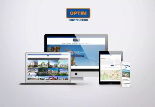 Création de site web vitrine – OPTIM construction