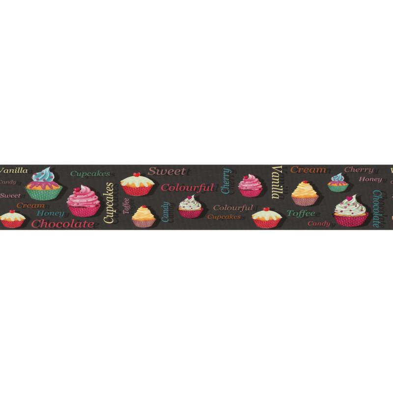 Frise adhsive cuisine Cupcakes  couleurs  Lutce