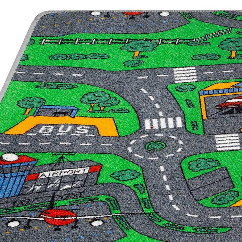 tapis enfant circuit voitures roundabout hamat grandes tailles