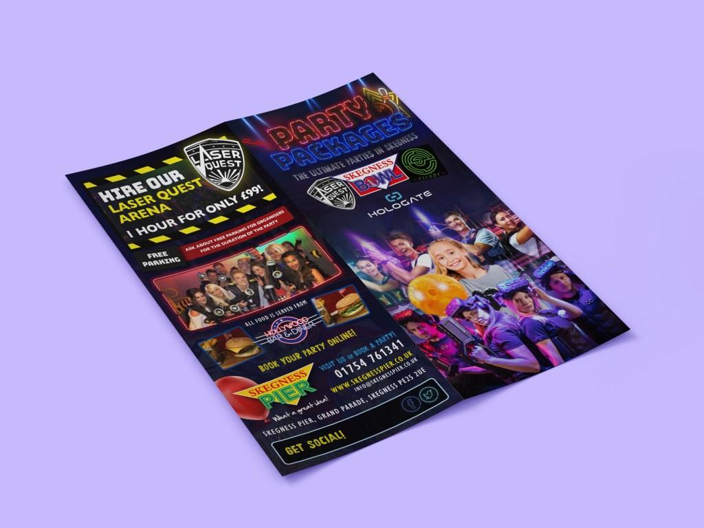 Skegness Pier Party Leaflet Design