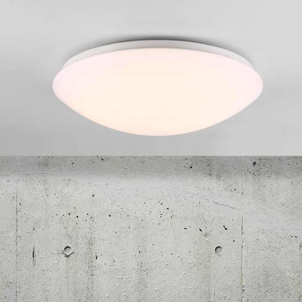 LED Badezimmer Deckenleuchte Ask Sensor rund IP44 360 mm  NORDLUX  45386501  clicklichtde