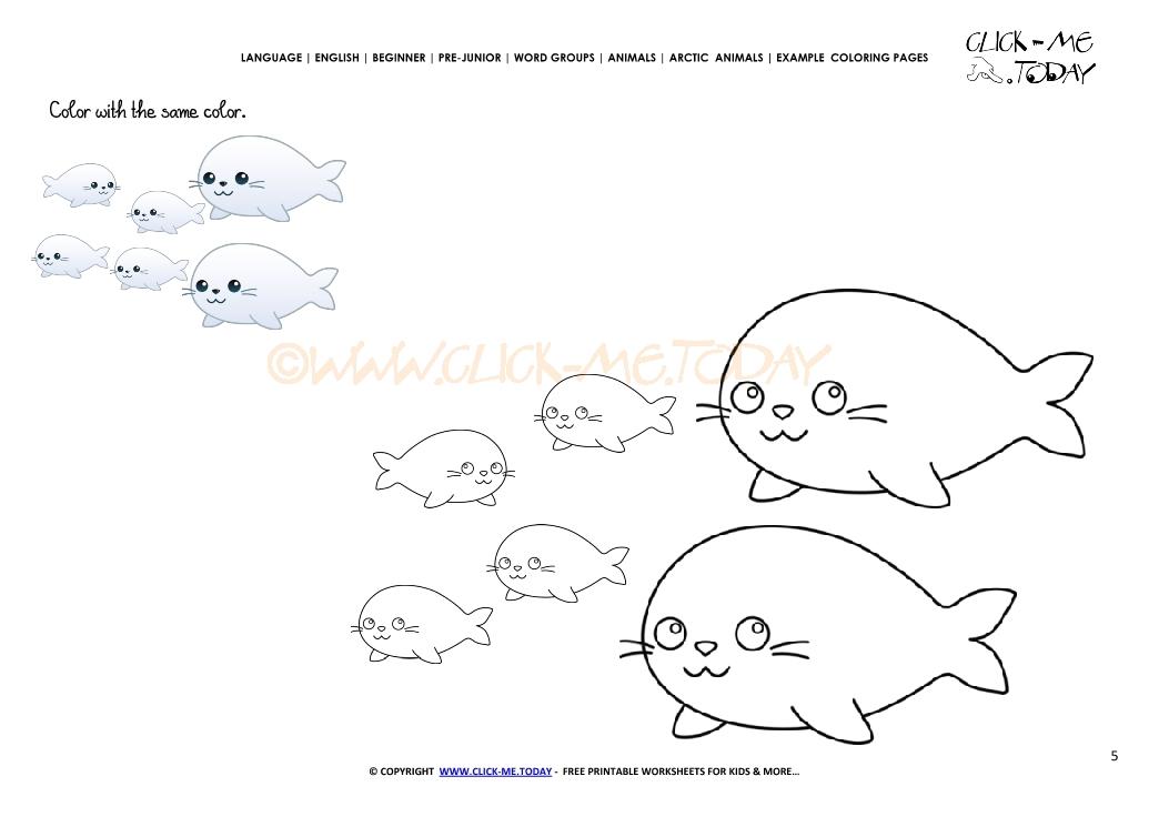 Seal With Numbers Preschool Worksheets. Seal. Best Free