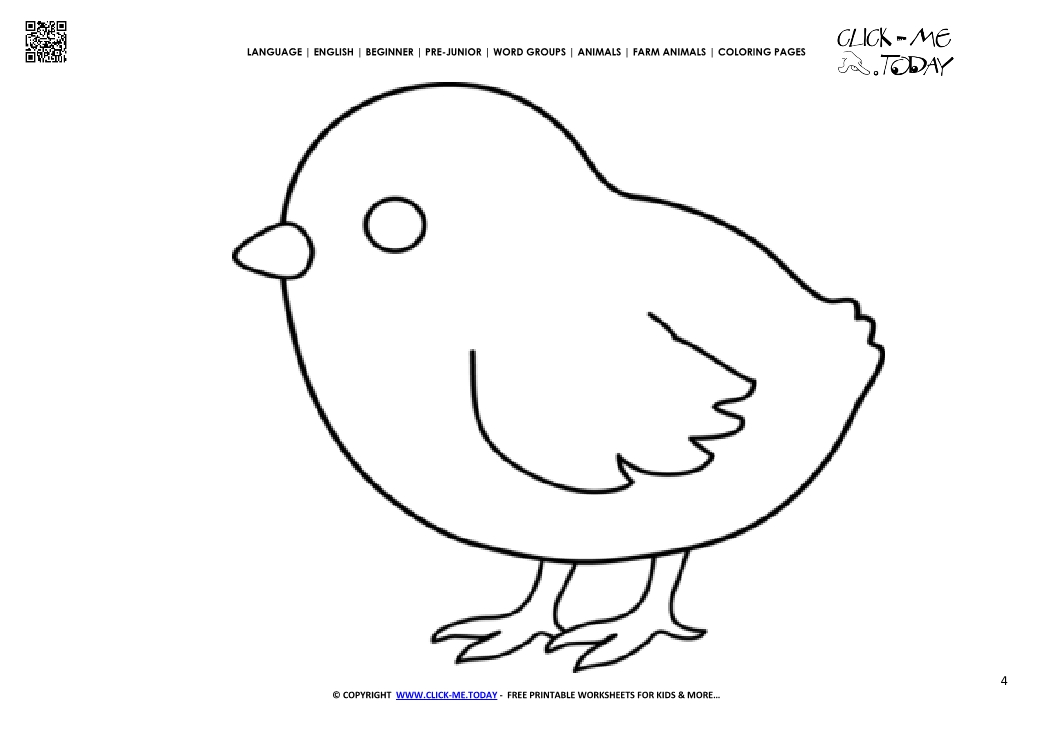 Coloring Page Chicken Color Picture Of Chicken
