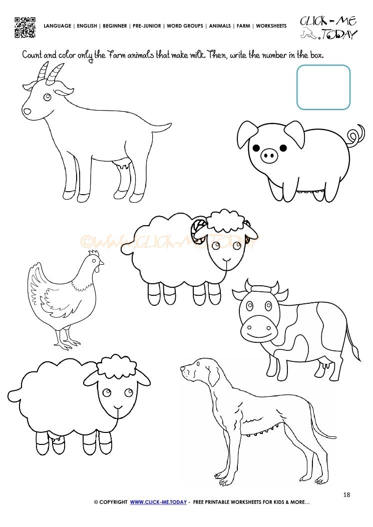 Domestic Animals Worksheet