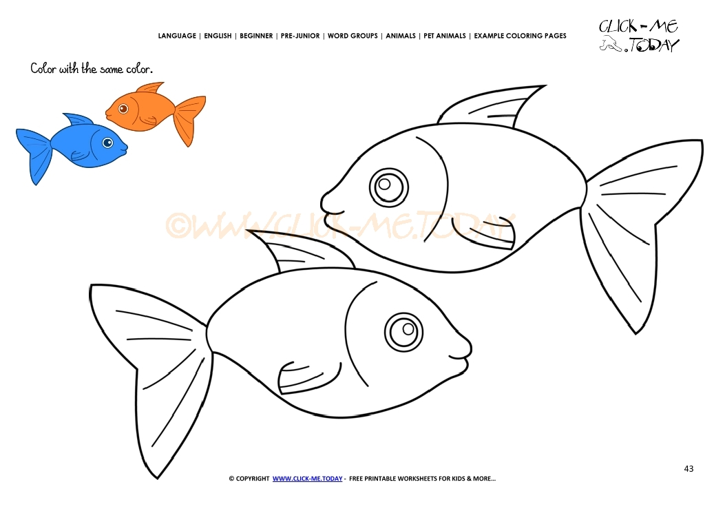 Sample coloring sheets