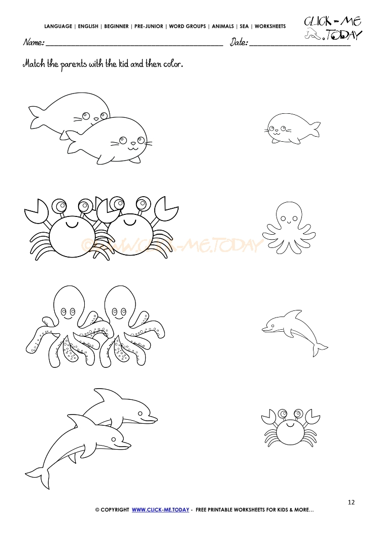 Free Printable Ocean Animal Coloring Pages