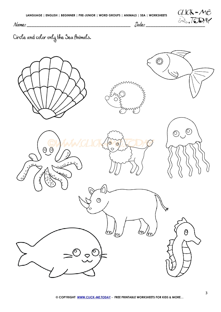Preschool Worksheets On The Sea. Preschool. Best Free