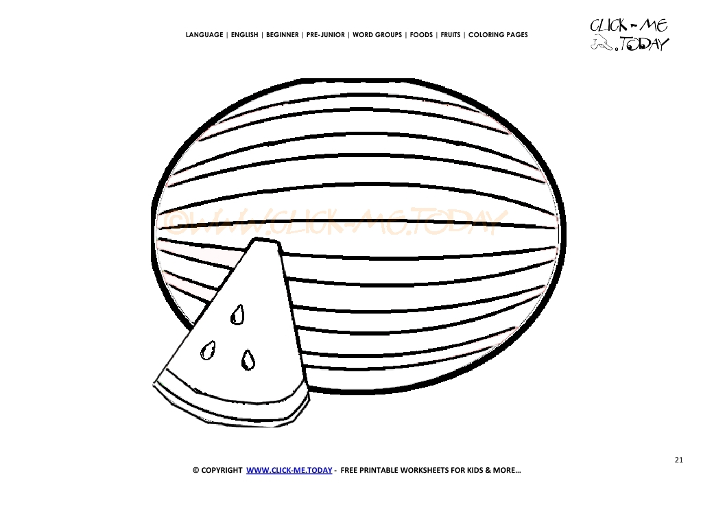 Watermelon Worksheet For Preschool. Watermelon. Best Free