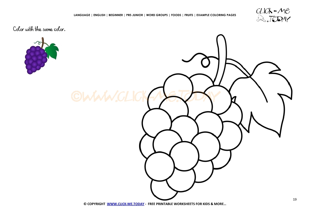 Grapes Are Not Always Sour Coloring Pages Download Free