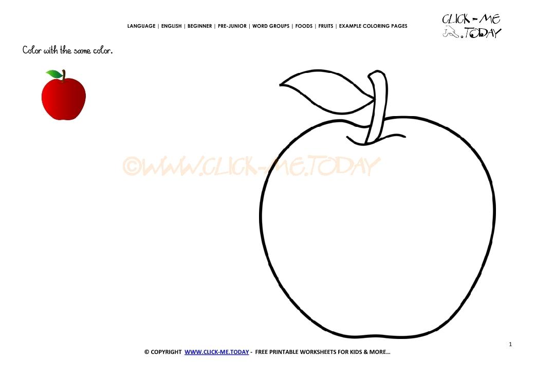 Red Apple Worksheets For Preschool. Red. Best Free