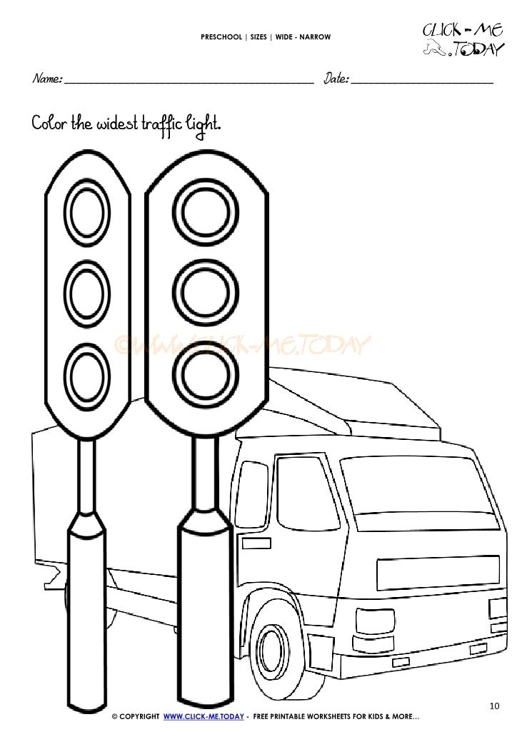Traffic Light Worksheet For Preschoolers