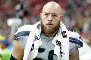 The Houston Texans sign center for Justin Britt, formerly from the Seattle Seahawks