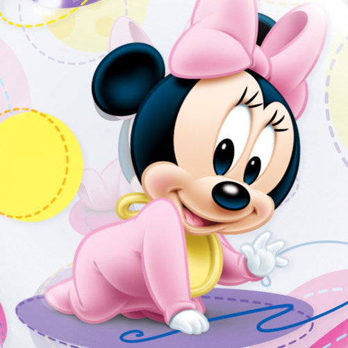 Baby Minnie Mouse Bubble Balloon  Free Delivery
