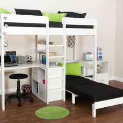 Loft Bed With Desk And Futon Chair Hydro Water Ski Bunk Beds - Stompa Uno Wooden High Sleeper : Click 4