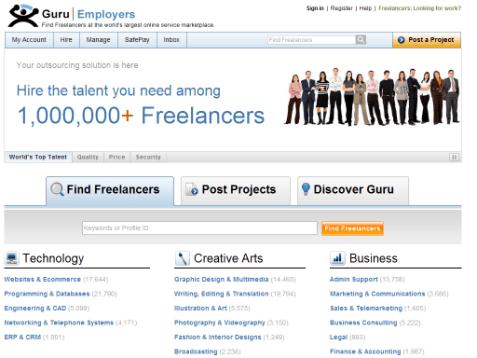 Image result for guru.com website