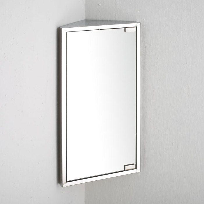 300mm Wide x 600mm Single Door Bilbao CORNER Mirror