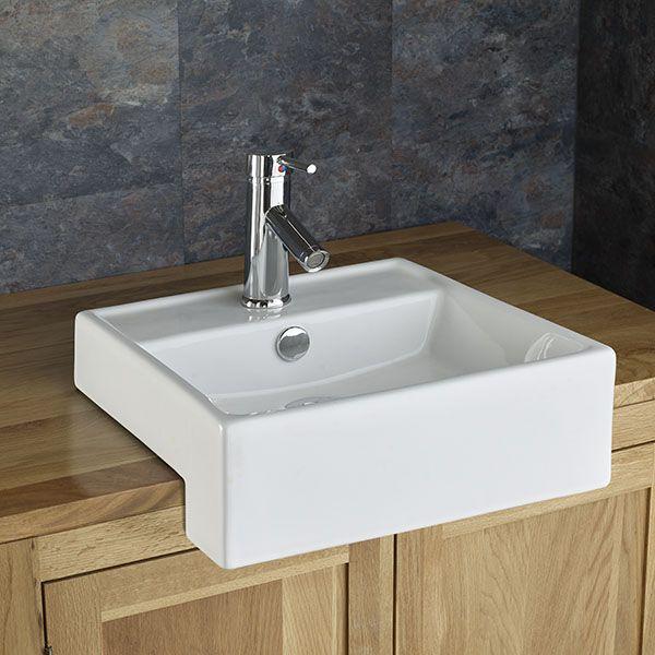 Gandra Square Inset Countertop Bathroom Sink Set