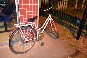 Bicicleta usada nos assaltos. Foto: Divulgação / 12º BPM