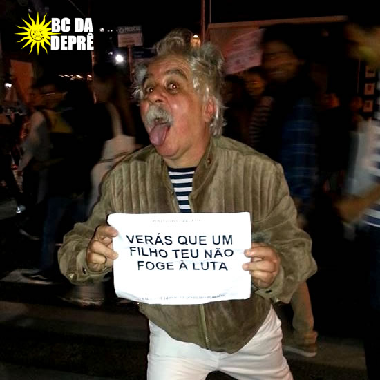 Einstein no protesto