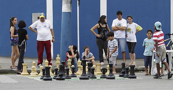 Rua do Lazer realizada em abril no Bairro dos Municípios. Foto: Amanda Weber