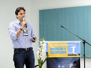 ]Paulo Bornhausen falou sobre as ações no Governo com foco na inovação e tecnologia. Foto: Divulgação