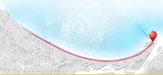 Percurso da primeira Maratona de Revezamento de Balneário Camboriú