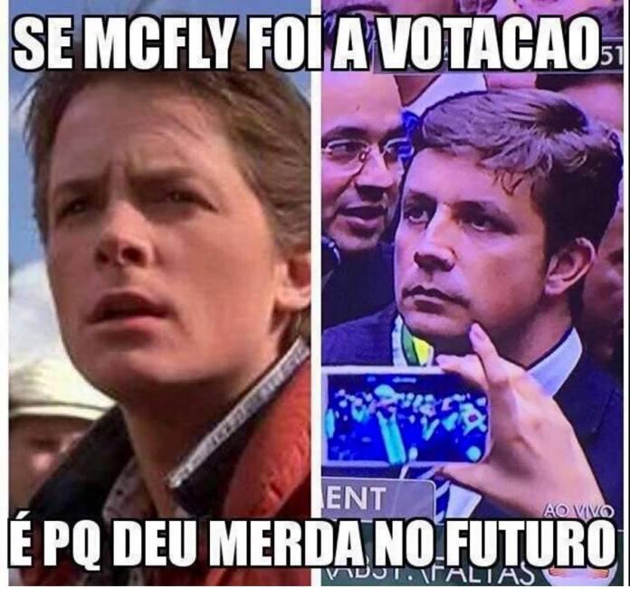 Algumas pessoas acharam Fabrício parecido com o personagem Mc Fly do filme 'De Volta Para o Futuro'.