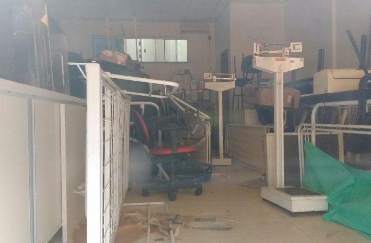 equipamentos parados na Secretaria de Saúde do Monte Alegre